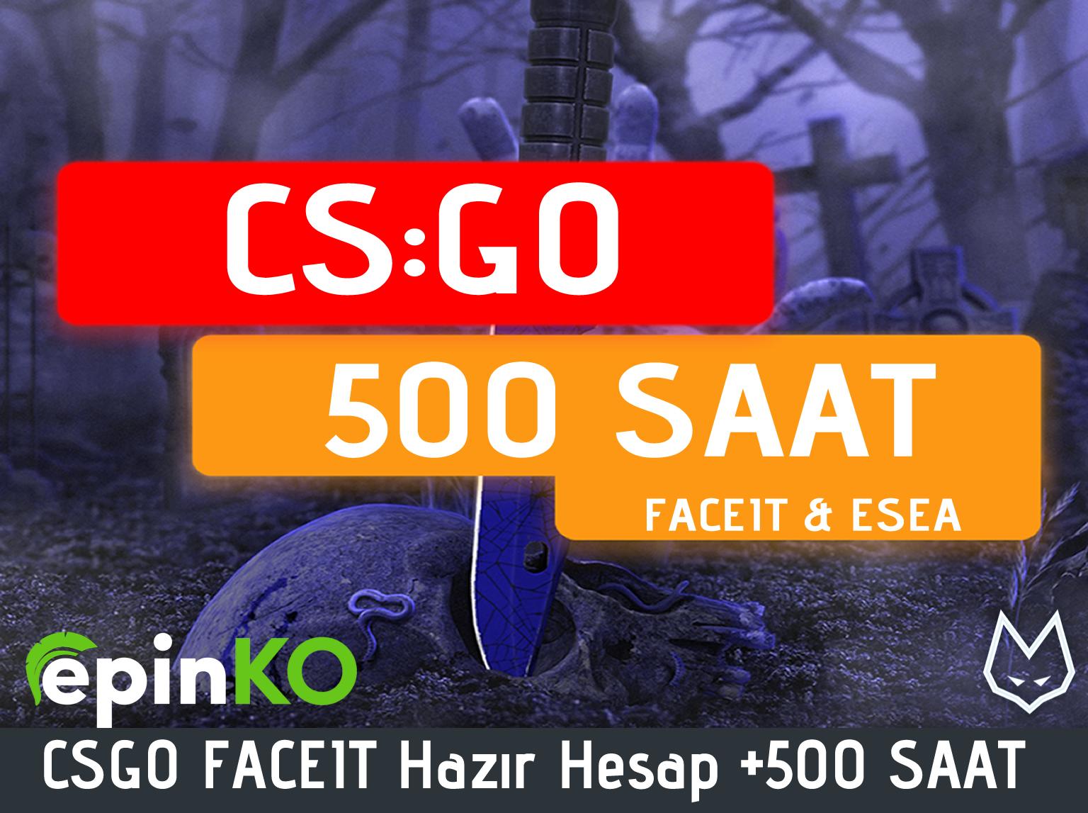 CSGO FACEIT Hazır Hesap +500 SAAT